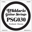 D'Addario PSG030 ProSteels Electric Guitar Single String .030