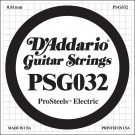 D'Addario PSG032 ProSteels Electric Guitar Single String .032