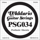 D'Addario PSG034 ProSteels Electric Guitar Single String .034