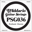 D'Addario PSG036 ProSteels Electric Guitar Single String .036