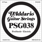 D'Addario PSG038 ProSteels Electric Guitar Single String .038