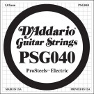 D'Addario PSG040 ProSteels Electric Guitar Single String .040