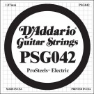 D'Addario PSG042 ProSteels Electric Guitar Single String .042