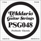 D'Addario PSG048 ProSteels Electric Guitar Single String .048