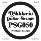 D'Addario PSG050 ProSteels Electric Guitar Single String .050