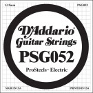 D'Addario PSG052 ProSteels Electric Guitar Single String .052