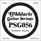 D'Addario PSG056 ProSteels Electric Guitar Single String .056