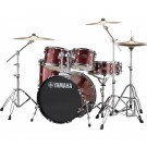 Yamaha Rydeen 5pc Fusion Drum Kit Package with Cymbals, Throne Sticks in Burgundy Glitter