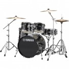 Yamaha Rydeen 5pc Fusion Drum Kit Package with Cymbals, Throne Sticks in Black Glitter