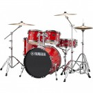 Yamaha Rydeen 5pc Fusion Drum Kit Package with Cymbals, Throne Sticks in Hot Red
