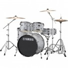 Yamaha Rydeen 5pc Fusion Drum Kit Package with Cymbals, Throne Sticks in Silver Glitter