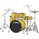 Yamaha Rydeen 5pc Fusion Drum Kit Package with Cymbals, Throne Sticks in Mellow Yellow