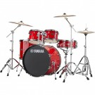 Yamaha Rydeen 5pc Euro Drum Kit Package with Cymbals, Throne Sticks in Hot Red