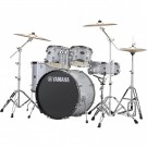Yamaha Rydeen 5pc Euro Drum Kit Package with Cymbals, Throne Sticks in Silver Glitter