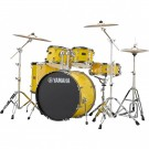Yamaha Rydeen 5pc Euro Drum Kit Package with Cymbals, Throne Sticks in Mellow Yellow