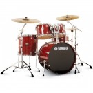 "Yamaha Stage Custom Birch 20"" Fusion Drum Kit in Cranberry Red"
