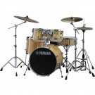 "Yamaha Stage Custom Birch 22"" Euro Drum Kit in Natural Wood"