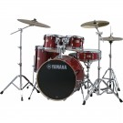 Yamaha Stage Custom Birch Euro Drum Kit + Hardware + PST5 Cymbal Pack - Cranberry Red