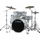 Yamaha Stage Custom Birch Euro Drum Kit Package w/Hardware & Cymbals in Pure White