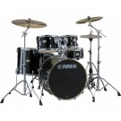 Yamaha Stage Custom Birch Euro Drum Kit Package w/ Hardware & Cymbals in Raven Black