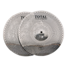 """Total Percussion SRC13PR 13"""" Pair Sound Reduction HiHat Cymbals. Silver"""