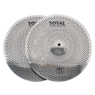 """Total Percussion SRC14PR 14"""" Pair Sound Reduction HiHat Cymbals. Silver"""