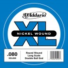 D'Addario SXL080 Nickel Wound Double Ball-End Bass Guitar Single String Long Scale .080