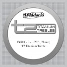 D'Addario T2 Titanium Treble Classical Guitar Single String Normal Tension First String