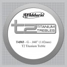 D'Addario T2 Titanium Treble Classical Guitar Single String Normal Tension Third String