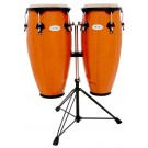 """Toca 10"""" & 11"""" Synergy Wooden Conga Set in Amber"""