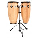 """Toca 10"""" & 11"""" Synergy Wooden Conga Set in Natural"""