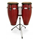"""Toca 10"""" & 11"""" Synergy Wooden Conga Set in Rio Red"""