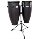 "Toca 10 & 11"" Synergy Series Wooden Conga Set in Trans Black"