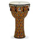 "Toca Freestyle Series Mech Tuned Djembe 14"" in Kente Cloth with Bag"