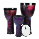 Toca Freestyle 2 Series Nesting Djembes in Woodstock Purple - PK3