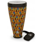 "Toca Flex Drum 9-1/2"" Junior in Kente Cloth with Strap"