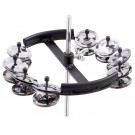 Toca Hi-Hat Hitzone Tambourine with Ten Rows of Nickel Plated Jingles