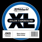 D'Addario TWB065S Nylon Tape Wound Bass Guitar Single String .065