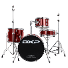 """DXP 18"""" 4 Pce Transit Series Drum Kit in Wine Red"""