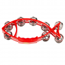 Mano Percussion Fish shaped Tambourine in Red