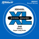 D'Addario XB040SL Nickel Wound Bass Guitar Single String Super Long Scale .040