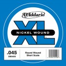 D'Addario XB040S Nickel Wound Bass Guitar Single String Long Scale .045