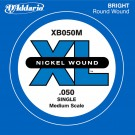 D'Addario XB050M Nickel Wound Bass Guitar Single String Medium Scale .050