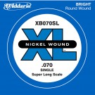 D'Addario XB070SL Nickel Wound Bass Guitar Single String Super Long Scale .070