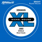 D'Addario XB085S Nickel Wound Bass Guitar Single String Short Scale .085