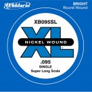 D'Addario XB095SL Nickel Wound Bass Guitar Single String Super Long Scale .095