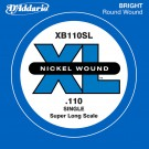D'Addario XB110SL Nickel Wound Bass Guitar Single String Super Long Scale .110