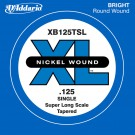 D'Addario XB125TSL Nickel Wound Bass Guitar Single String Super Long Scale .125 Tapered