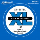 D'Addario XB130T Nickel Wound Bass Guitar Single String Super Long Scale .130 Tapered