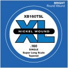 D'Addario XB160TSL Nickel Wound Bass Guitar Single String Super Long Scale .160 Tapered